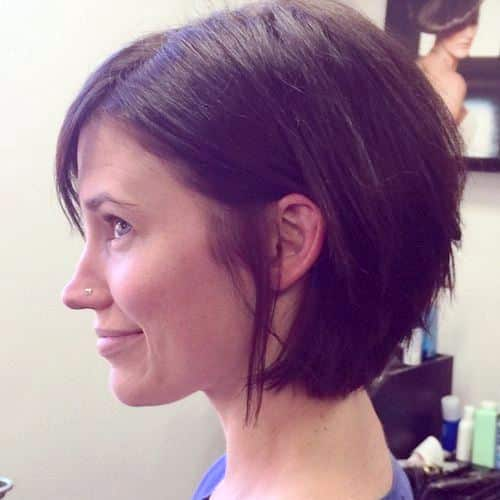 Angled Short Bob for Thick Hair