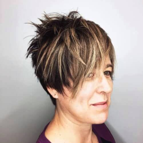 Angled Undercut - Short Hairstyles for Women Over 50