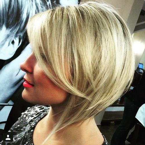 Asymmetrical White Thick Bob