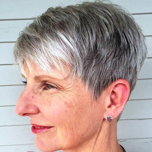 Blonde Pixie Haircut for Women over 50