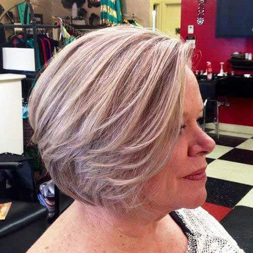 Bouncy Bob Haircut for Aged Woman