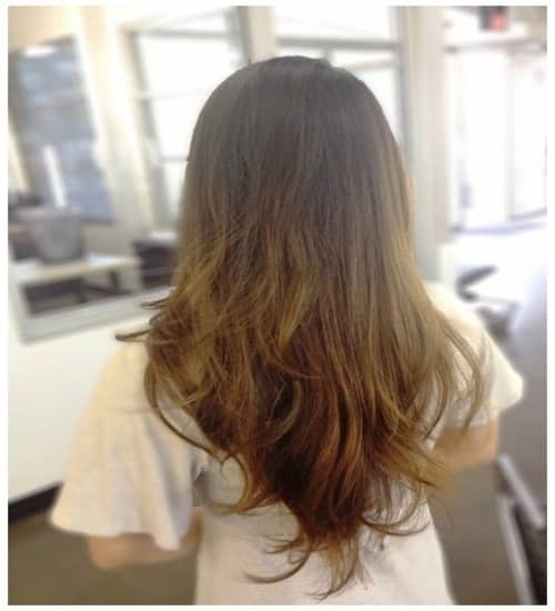 Choppy Layers with Small Highlights for Long Hair