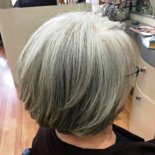 Colored Bob for Aged Women