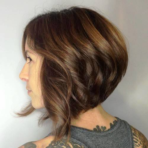 Cropped and Curved Bob for Thick Hair