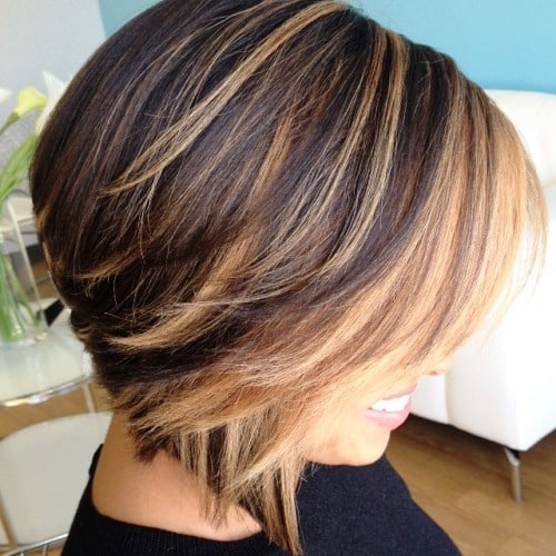 Double Layered and Double Toned Brown Short Bob