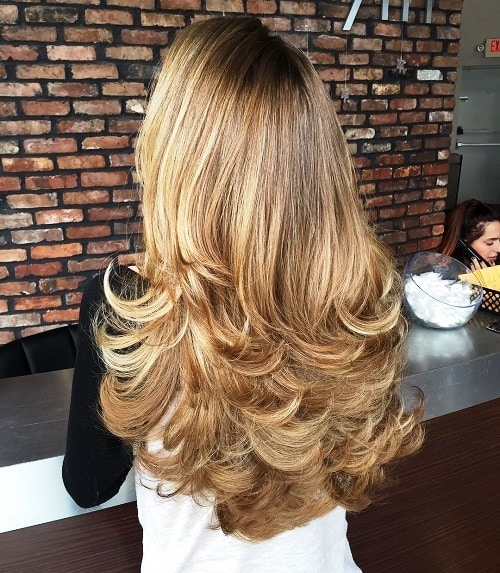 Layered Hairstyle with a Flip