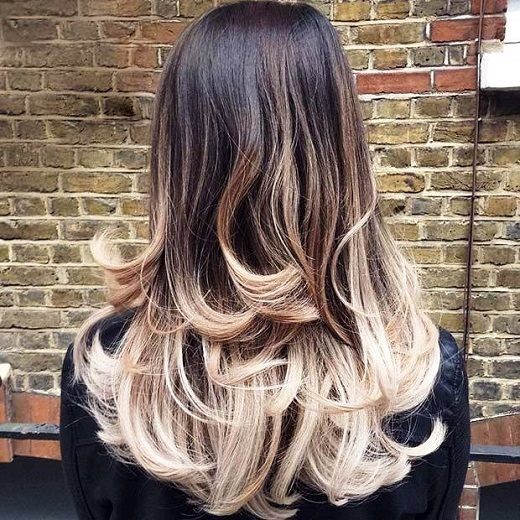 Long Layered Ombre Haircut for Long Hair