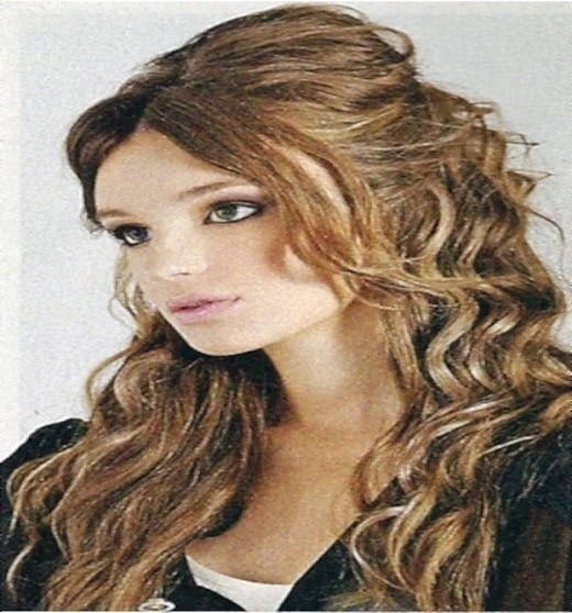 Long Layers with Long Curls Haircut