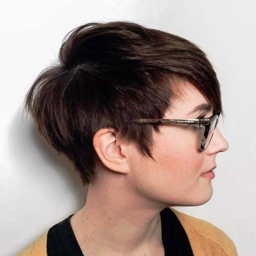 Mermaid Chic Short Hairstyle for Round Faces
