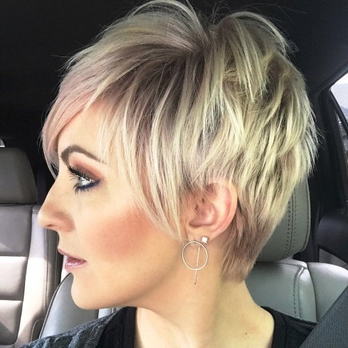Messy Spiky, Short Pixie with Some Asymmetrical Bangs