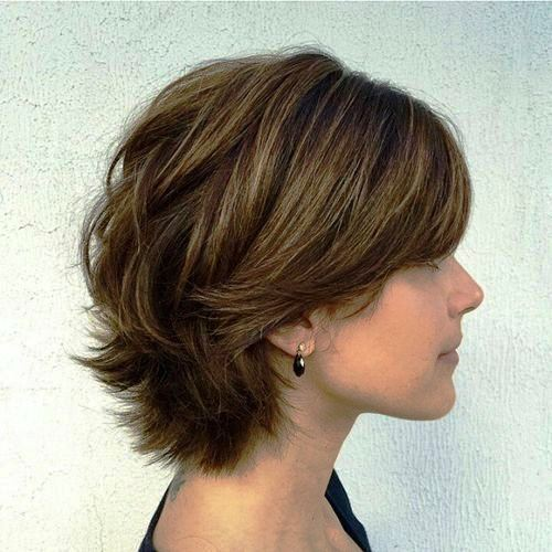 Messy Voluminous Curls Short Hairstyles for Thick Hair