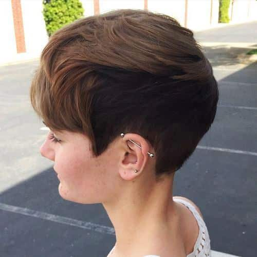 Pixie Cut with an Undercut Short Hairstyle for Thick Hair