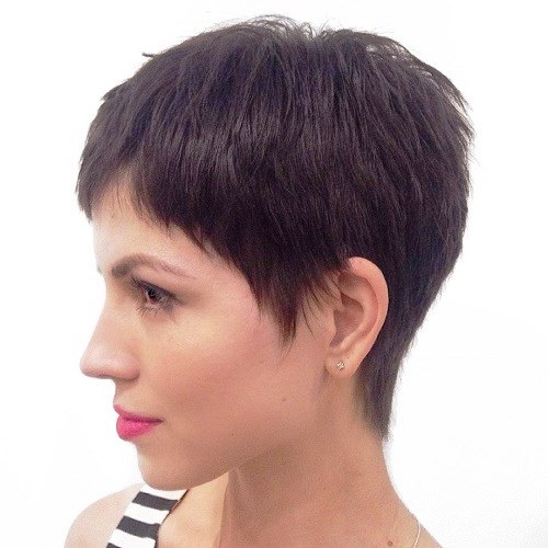 Short Pixie with Sideburns
