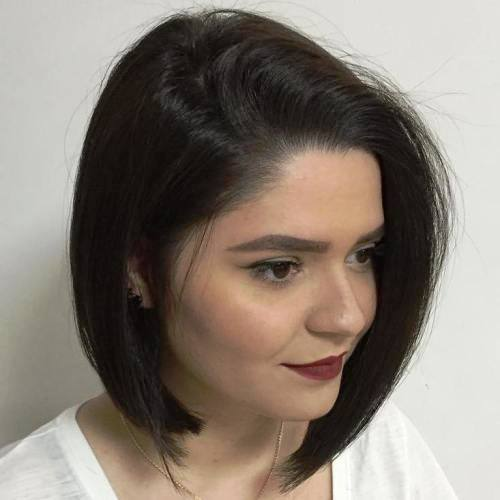 Side Parted, Simple Jaw-Length Short Bob