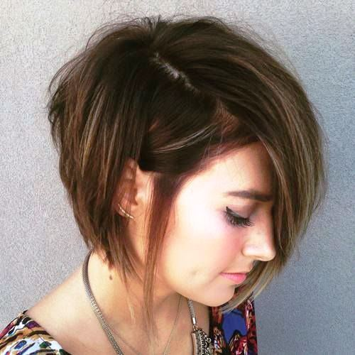 Side-parted Bob with Chopped off Layers
