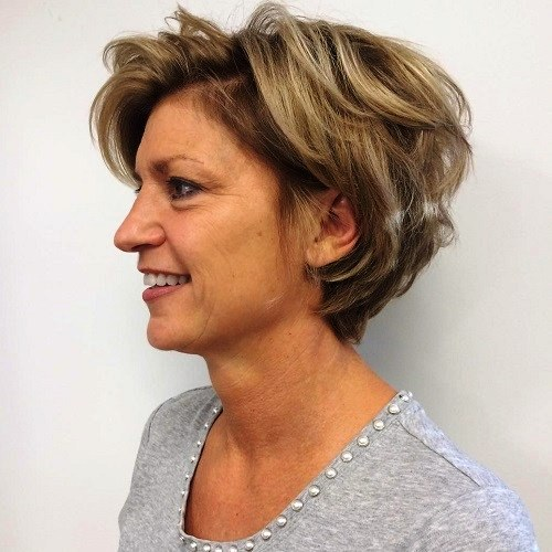 Small, Thick Tousled Curls - Short Hairstyles for Thick Hair