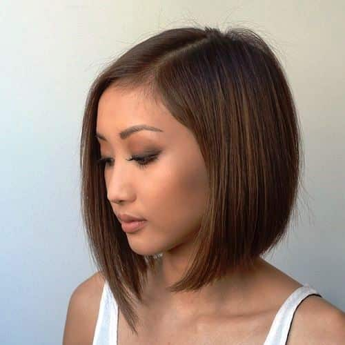 Swished Out Short Bob for Round Faces