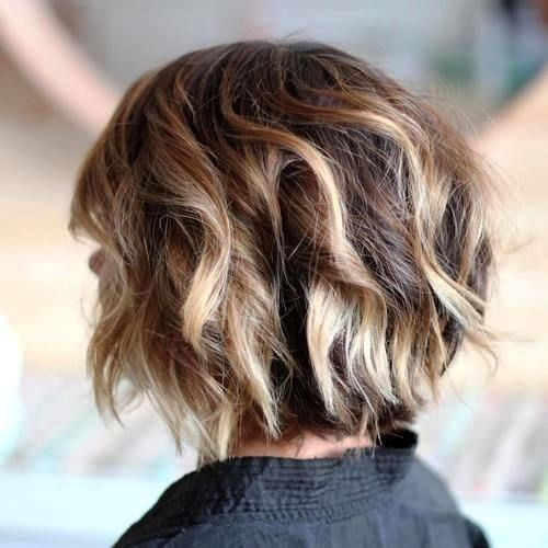 Textured Bob along with Highlights
