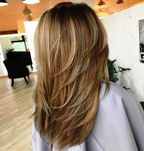Wrapping Feathered Styled Layers for Long Hair