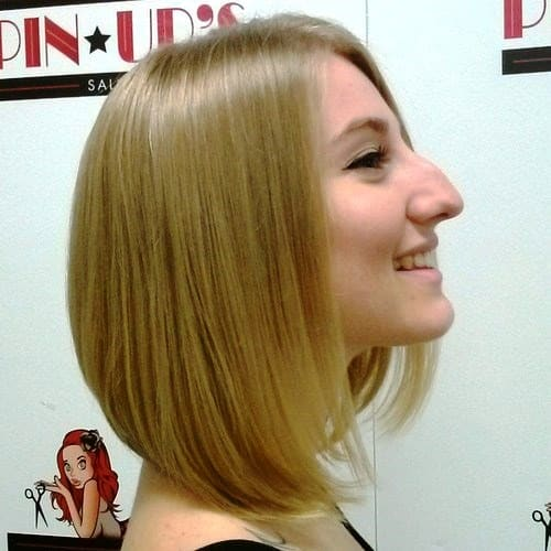 A-Line Medium Bob Haircuts with Purple Hint