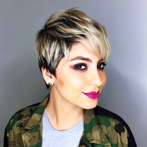 Ash Blonde Bob with Black Roots