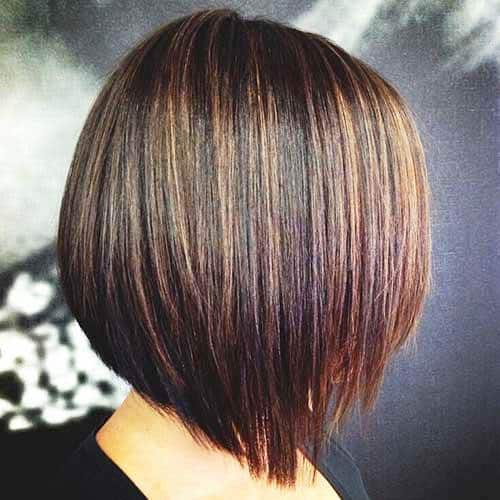 Blunt Bob with Graduated Streaks