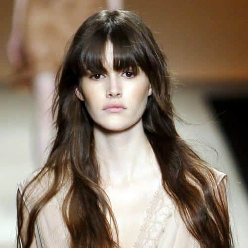 Bumpy Long Hairstyles with Bangs