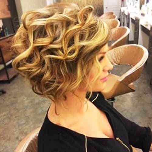 Curled Balayage for Thin Hair