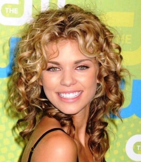 Curly Medium Length Hairstyle for Thick Hair