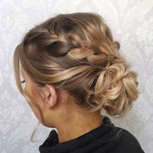 Curly Messy Hairdo for Fine Hair