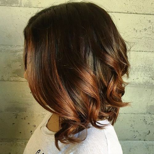 Dramatic Medium Length with Contrasting Colors