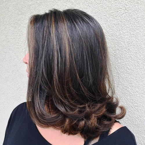 Flirty and Cutefor Medium Length Hairstyles with Bangs