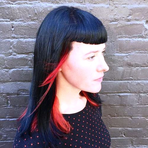 Hot Blowout for Medium Length Haircuts with Bangs