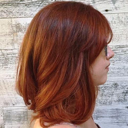 Layered Auburn Haircut