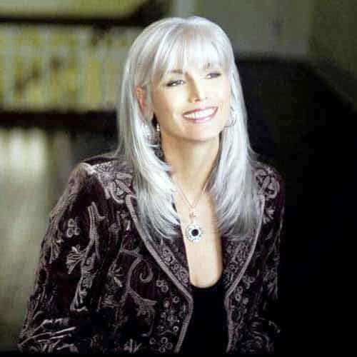 Long Gray Hairdo for Women over 50 with Thin Hair
