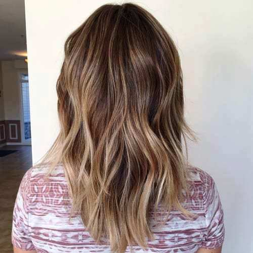 Medium Balayage Haircut with some Dynamic Layers