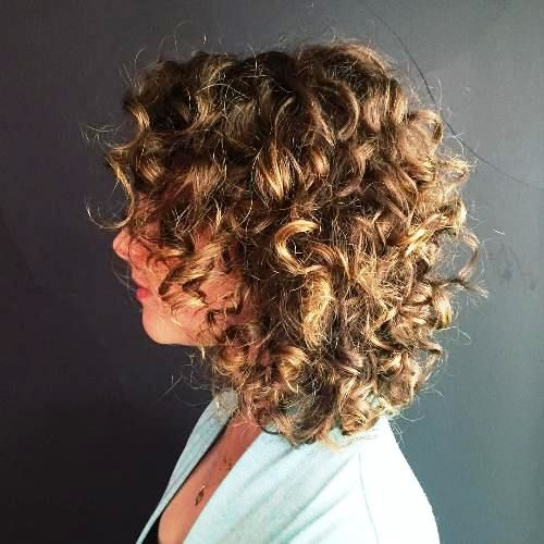 Medium Bob Haircuts with Light Curls