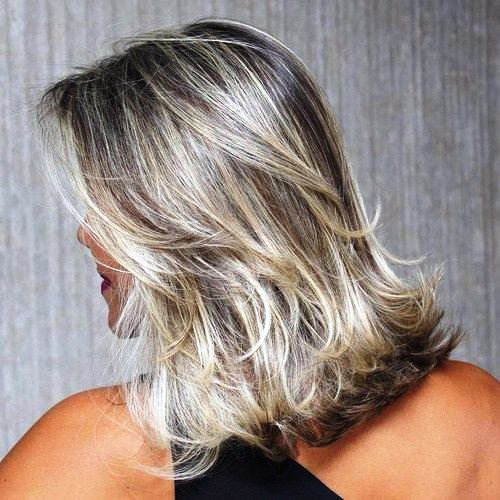 Medium Length Haircut and Flicked Ends