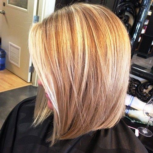 Medium Length Haircut with Butterfly Blonde