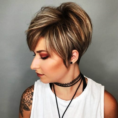 Pixie Haircut with Dimensional Highlights