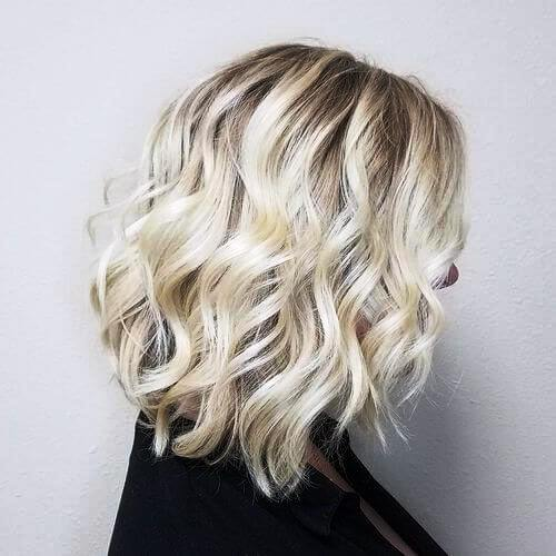 Platinum Bob with Beach Waves