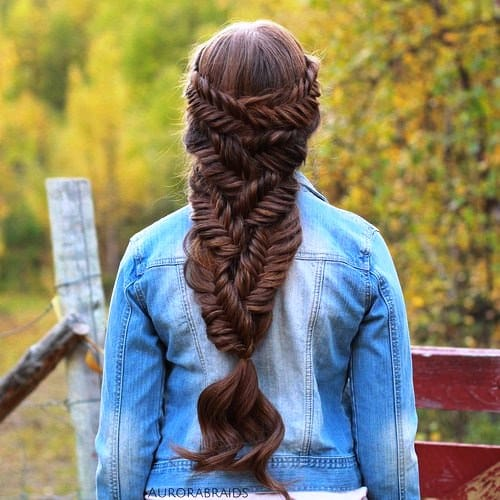 Queen French Braids with Bangs,Long Hairstyles with Bangs
