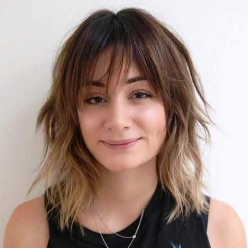 Razored Shag Hairstyle with Bangs
