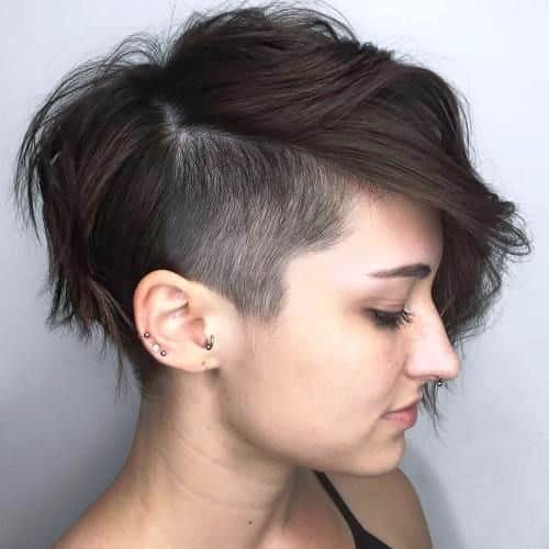 Rounded Pixie with Temple Undercut