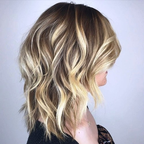 Shag with Blonde Highlights and Emphasized Layers