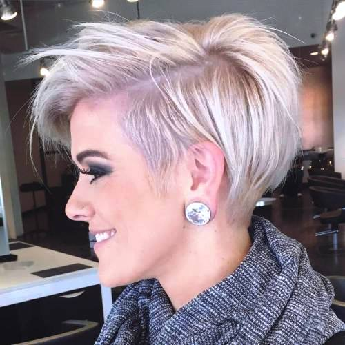 Tapered Pixie with Messy Crown