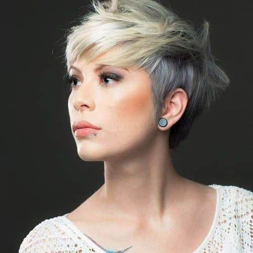 Tapered Pixie with a Messy Crown