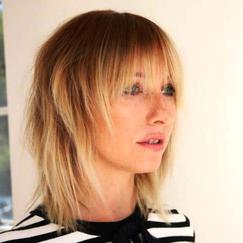Textured Shaggy Cut with Rocky Bangs