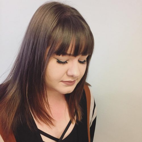 Tousled Waves and Blended Bangs