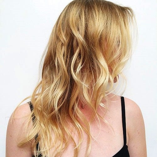 Wavy Long Hairstyles for Thin Hair with Bangs